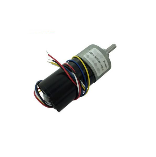 12-30V 24V 25W 5 Wire Speed Reduce Brushless DC Geared Motor JGB37-3650 1040/650/345/216/116/72/49/38/24/12/8RPM PWM FG Pluse<br>