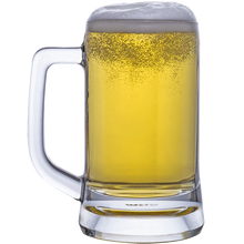 A High Quality New Fashionable Lead Free Handmade Blown Beer Glass Beer Goblet High-capacity Thicken Glass with Handle