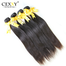 Cexxy Hair 5PCS/LOT 6A Indian Human Remy Hair Virgin Extension Straight Natural Color Free Shipping DHL