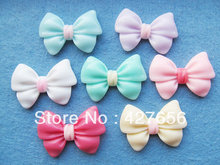 34.00mmx22.89mm Multiclor Colors Flatback Resin Bow tie/Bowknot Cabochon Charm/Finding, Decoration Kit,DIY Jewellery Accessory