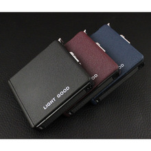 (20 Cigarette )Scrub Multifunction Cigarette Case Fashion Flameless Windproof Inflatable Gas Lighter Cigarette Box Men Gift