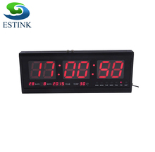 1pcs 48cm Digital Clock Big LED Time Calendar Temperature Desk Table LED Wall Clock  Home Decor