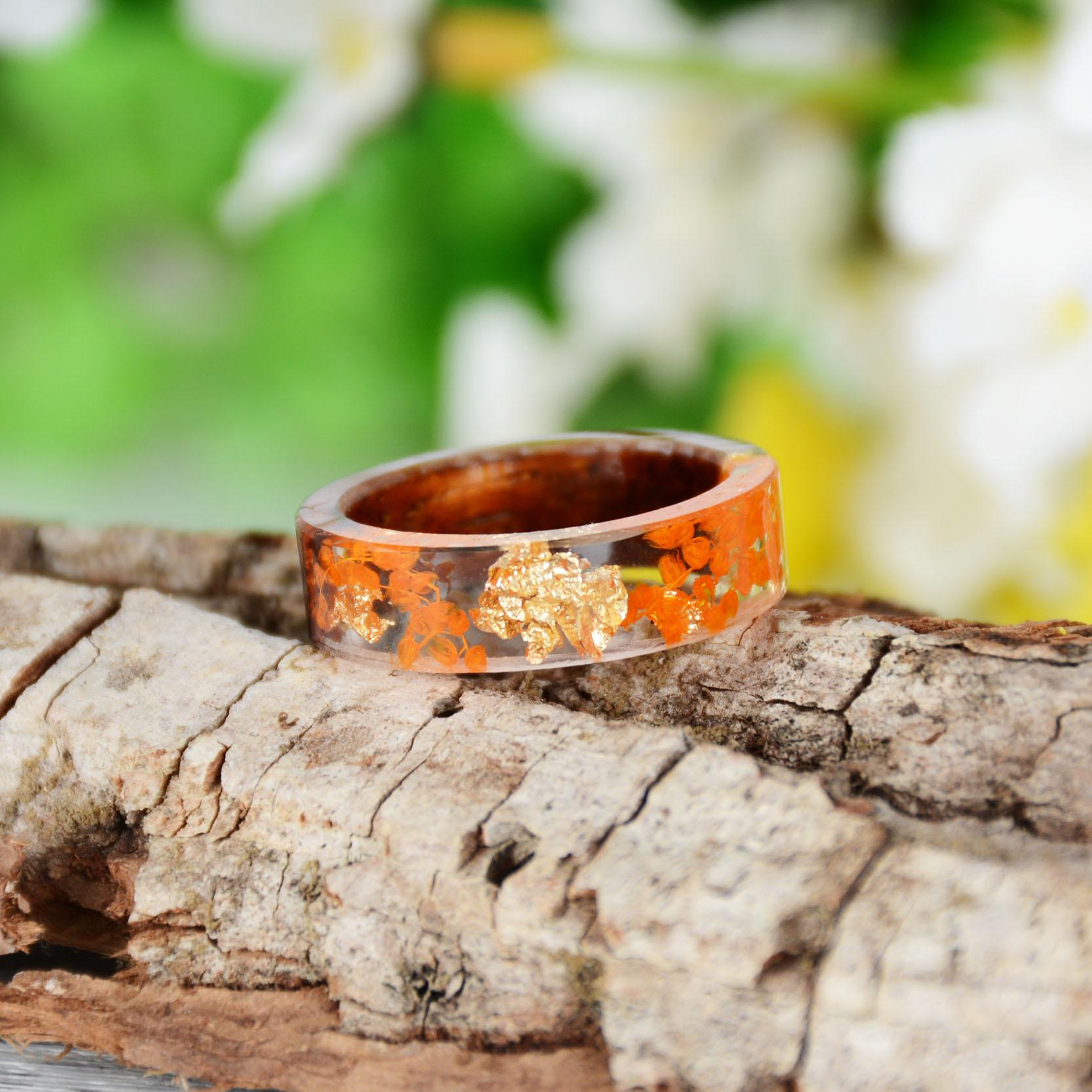 Handmade Wood Resin Ring Many Styles 33