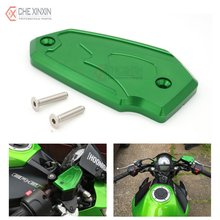 Motorcycle CNC Front Brake Fluid Tank Cap Cover Green For Kawasaki Z800 2013 2014 2015 ER6N ER6F Versys 650 2009-2014(China)