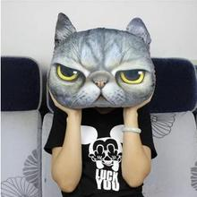 Hot sale 40*38cm lovely cat head tiger plush toys girlfriends birthday girl cartoon cushion free shipping