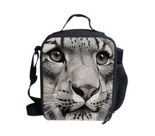 New arrivel zoo lion face neoprene thermal lunch bag men teenager boys casual lunch box tote waterproof food container retail
