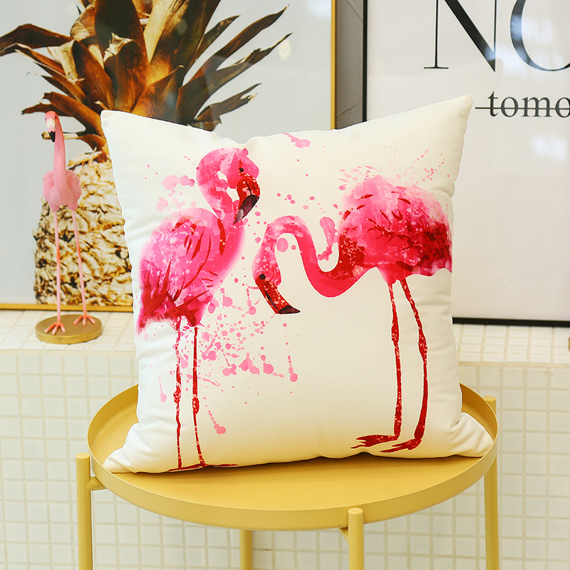Cute Flamingo Cushion Pillow Case Flamingo Party Bedroom Sofa Home Decoration accessories Birthday/Wedding Favors and Gifts 8