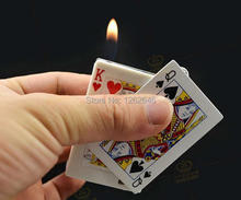 Free shipping 2 pcs/lot  Shock Card Lighter  - Magic Trick,Fun Magic Toys,Magic Accessories,Close-up,Stage