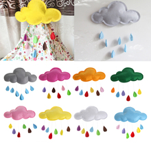 S-home New Baby Kids Room Nursery Home Cloud Raindrop Wall Mural Decor Stickers Decal MAR25(China)