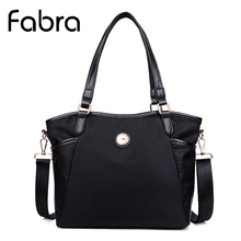 Fabra Waterproof Nylon Women Messenger Bags Solid Crossbody Shoulder Bag Tote Small Size Handbags 30*12*24 cm