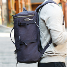 USB Design Backpack Travel High Capacity Men Travel Bags Brand Fashion Bag for Travelling Canvas Duffle Bag Backpack Bag(China)