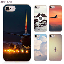 BINYEAE travel air sky Clear Cell Phone Case Cover for Apple iPhone 4 4s 5 5s SE 5c 6 6s 7 7s Plus(China)