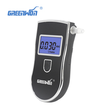 Digital LCD Portable Pocket Professional Police Breath Alcohol Tester Breathalyzer Analyzer Meter With 5 Mouth Straw blowpipe(China)