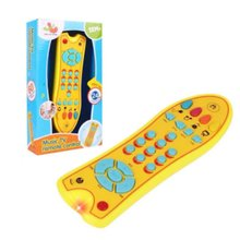 Baby Toys Music Mobile Phone TV Remote Control Early Educational Toys Electric Numbers Remote Learning Machine Toy Gift for Kids(China)