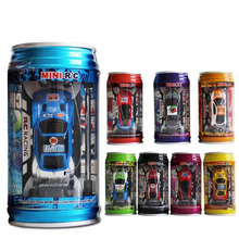 Multi-color Random Color Coke Can Mini RC Car Radio Remote Control Micro Racing Car Toy Vehicle Remoto Electronic Kid's Toys Gif