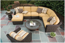 Sigma garden wicker furniture outdoor sofa sets modern rattan sofas
