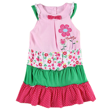 retail 2016 nova children baby girl clothing summer short ssleeve floral embroidery chinese style girl dress nova kids clothes(China)