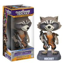 FUNKO Original  POP Guardians of the Galaxy Rocket Raccoon Wacky Wobbler Bobble head Vinyl Doll Car Decoration