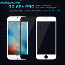 For iPhone 6 Plus 3D AP+ PRO Shatterproof Full-screen Tempered Glass Film NILLKIN Screen Protector Film For iPhone 6S Plus 5.5''