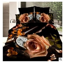 3D Yellow Rose Bedding set quilt duvet cover sets bed in a bag sheet bedspread linen Queen size Full Roses Department Store 4PCS(China)