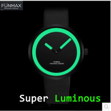 Waterproof ! Luminous Genuine Leather Watches Men top Brand Luxury Quartz women Watches sport military ladies watches unisex(China)