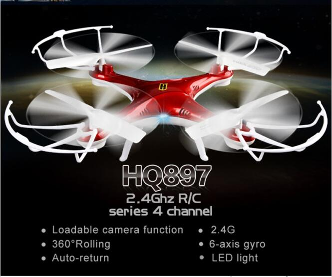 New High End aerial rc drone HQ8972.4G 2.0mp camera 6 axis gyro large radio control quadcopter UFO electric children toy gift