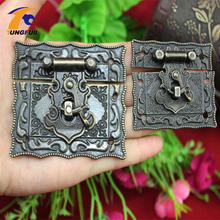 In Stock Excellent Value 5Sets Box Suitcase Toggle Latch Buckles Bronze Tone 51*43mm Durable in use(China)