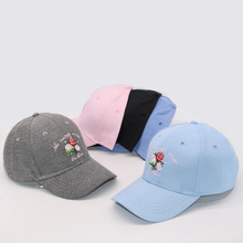 New Fashion Girls Snapback Sun Hat Flamingoe Embroidery Cotton Baseball Caps Women Solid Color Three Rose Letter Print Trend Cap