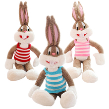 Hot Sale39.37in/1M Super Kawaii Cute Lovely Bunny Rabbit Plush Toys Bugs Bunny Stuffed Toys Baby Toy Birthday Gift Childs Gift(China)