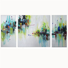 2017 Fashion Painting Wallworks For Home Bedroom Decor Handpainted Wallpaper Modern Abstract Landspace Canvas Oil Paintings