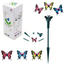 2pcs Novelty Solar Energy Flying Butterfly Toy Villa Garden Decoration Supplies Solar Toys Birthday Gift Butterfly(China)