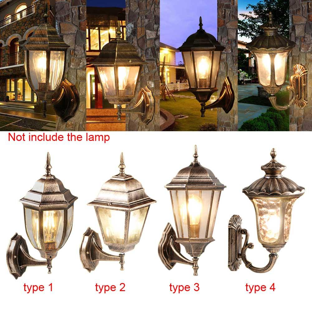 High Quality Black Waterproof Vintage Villa Garden Energy Saving LED Wall Sconce Lantern Lamp Fixture<br><br>Aliexpress