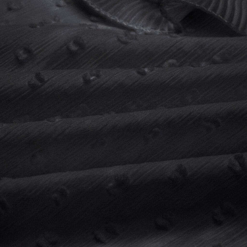 JAYCOSIN Women Dot O Neck T-shirt Long Sleeve Blouse Floral  V-Neck Bandage Shirt Sleeves New Fashion Autumn Ladies Tops 719