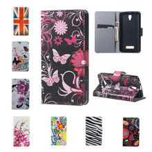 For Lenovo A2010 case PU Leather Bag Card Slots Flip Flowers Cover Case for Lenovo A 2010 with Stand Cases Wallet Case