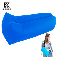 Free + Drop shipping fast inflatable lounger air sleep camping sofa portable camping travel outdoor hangout laybag lazy bag