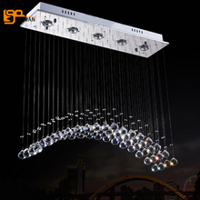 new brief style contemporary chandelier crystal lamparas de arana lustre LED light home lighting