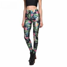 Hot New Arrival Sexy Women'S Leggings Digtial Printing Flower&Leaves Slim Pants Plus Size Summer Styles Fitness Apparel Woman