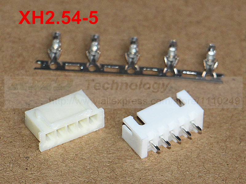 50set/lot XH2.54-5 XH2.54 connector 2.54mm 5pin free shipping<br><br>Aliexpress