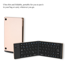Universal Mini Portable Wireless Bluetooth Folding Foldable Keyboard for iPhone iPad Mac iOS Android Windows