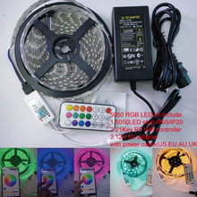 5m/roll 12V 300LEDs RGB SMD5050 Flexible led Strip+21key IOS& Android wifi color DIY muisc made controller+12V 5A adapter kit