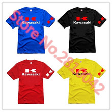 New 2017 VR46 motorcycle t-shirt Audi casual wear race t-shirt Kawasaki K logo T-shirt 100% cotton YAMAHA short-sleeve T-shirt