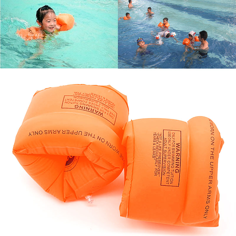 New Swimming Arm Band Ring Floating Inflatable Sleeves For Adult Child One Pair(China)