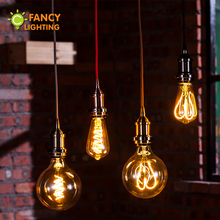 Led lamp E27 Golden ST64/G125 Dimmable Soft Filament bulb 220V 4W energy saving lamp for home restaurant decoration powerful led(China)
