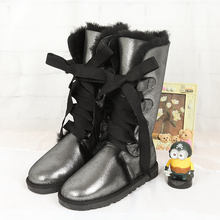 High boots in the winter of 2017 new 100% Australian natural sheepskin boots High Boots Free Shipping(China)