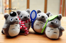 Super Kawaii 10CM MY Neighbor TOTORO Stuffed TOY ,  key Hook Giift TOTORO Plush Toys , Stuffed Totoro Animal Doll
