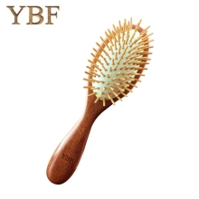 YBF 2017 Fashion NEW Wooden Red Sandalwood Air bag Hair Combs Natural Antistatic Head Massager Tool Airbag Relaxation Brushes(China)