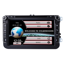 2 Din 8 Inch Car DVD Player For VW/Volkswagen/Skoda With GPS Navigaiton Digital Touch Screen with Wifi Radio FM GPS WCE System