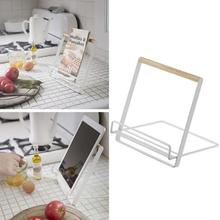 kitchen Luxury Metal racks Foldable Music Recipe Book Stand Cookbook Holder iPad Mobile Rack Document Holders 3(China)