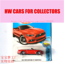 New Arrivals 2017 Hot Wheels 1:64 2015 Ford Mustang Gt Convertible Diecast Cars Collection Kids Toys Vehicle For Children