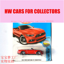 New Arrivals 2017 Hot Wheels 1:64 2015 Ford Mustang Gt Convertible Diecast Cars Collection Kids Toys Vehicle For Children(China)